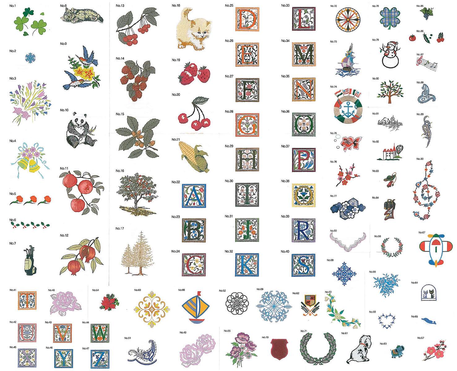 90種類刺しゅうデータCD