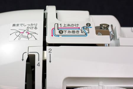 ブラザーA35の糸掛けティーチングラベル